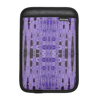 Purple black abstract pattern iPad mini sleeve