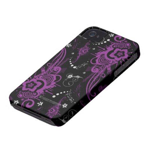 Purple black abstract swirls cool blackberry bold blackberry bold cases