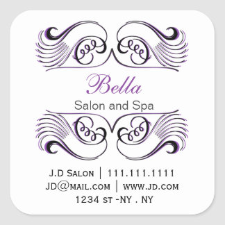 Purple black and white Chic Business stickers