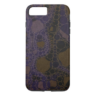 Purple Black Brown Abstract iPhone 7 Plus Case