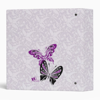 Purple & Black Butterflies Binder