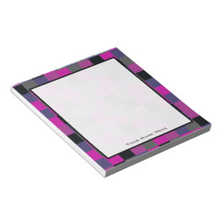 Purple & Black Color Blocks Personalized Notepad