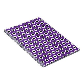 Purple & Black Dot  Notebook