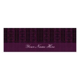 Purple Black Elegant Pattern Mini Business Card