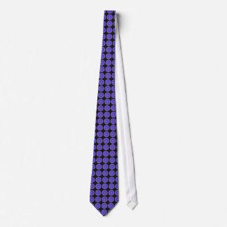 Purple & Black Gerbera Daisy Polka Dot Men's Tie