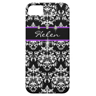 Purple black girls name modern case for the iPhone 5