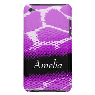 Purple & black graphic animal print ipod case barely there iPod case