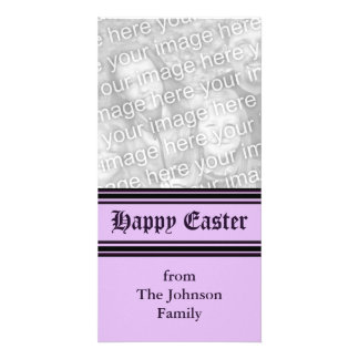 purple black Happy Easter Photo Cards