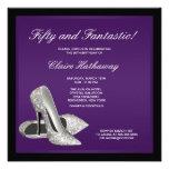 Purple Black High Heels Womans 50th Birthday