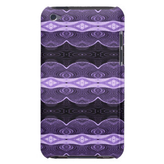Purple black lace abstract iPod touch cases