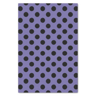 Purple & Black Large Polka Dot Tissue Paper