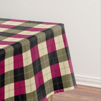 purple Black Plaid / tartan pattern table cloth