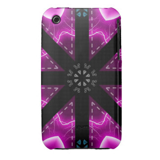 Purple/Black Psyche iPhone 3 Case-Mate Case