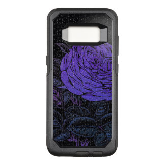 Purple Black Puzzle Rose OtterBox Commuter Samsung Galaxy S8 Case