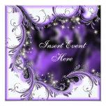 "Purple black quinceanera ""sweet 16"" party"