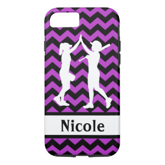 Purple Black Softball Cell Phone Case