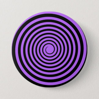 Purple & Black Spiral Customized Template 3 Inch Round Button