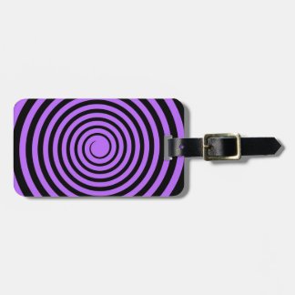 Purple & Black Spiral Customized Template Luggage Tag