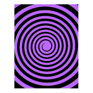 Purple & Black Spiral Customized Template Postcard