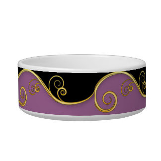 Purple-black Swirl Bowl