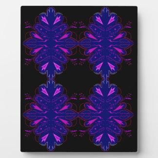 Purple black vintage ornaments plaque