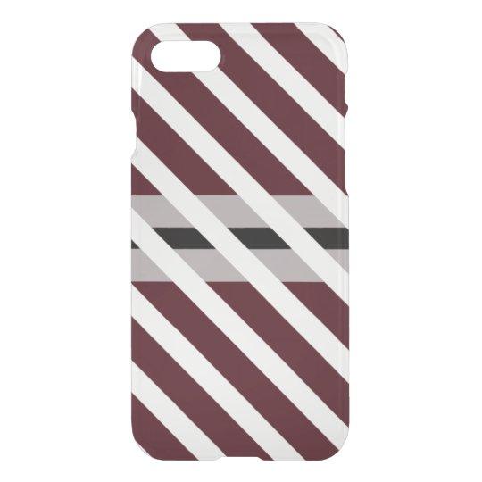 Purple Black White Stripe Geo Deflector iPhone 7 Case