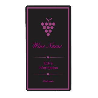 Purple Black Wine Label Shipping Label