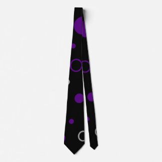 Purple & Black with Dots & Circles Tie