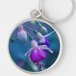 Purple Bleeding Hearts Keychain