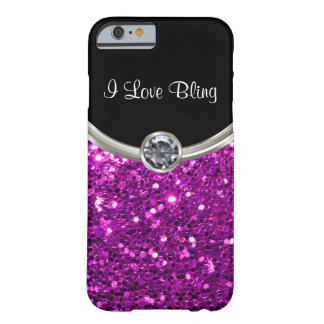 Purple Bling Style Barely There iPhone 6 Case
