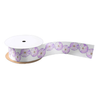 Purple Bloom Satin Ribbon