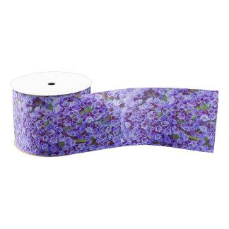 Purple Blooms in Spring Grosgrain Ribbon