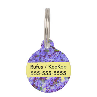 Purple Blooms in Spring Pet Tag