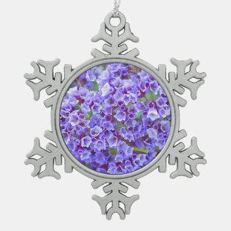 Purple Blooms in Spring Pewter Snowflake Ornament