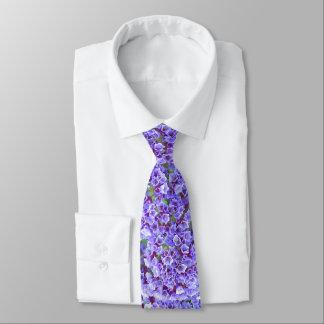 Purple Blooms in Spring Tie