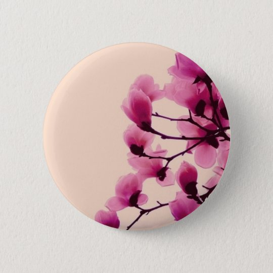 Purple Blossoms 2 Inch Round Button