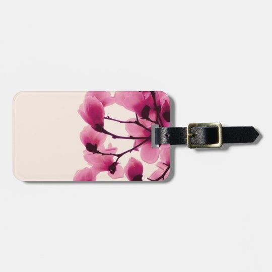 Purple Blossoms Bag Tag