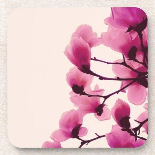 Purple Blossoms Beverage Coasters
