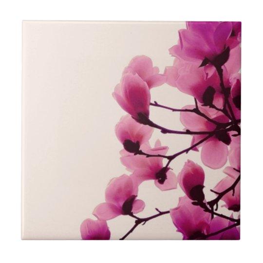Purple Blossoms Ceramic Tile