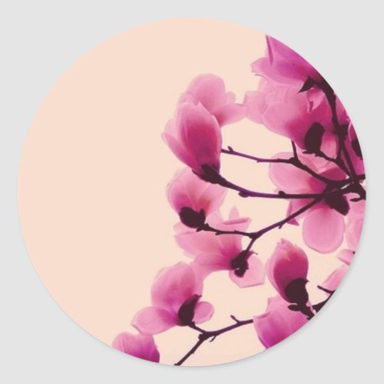 Purple Blossoms Classic Round Sticker