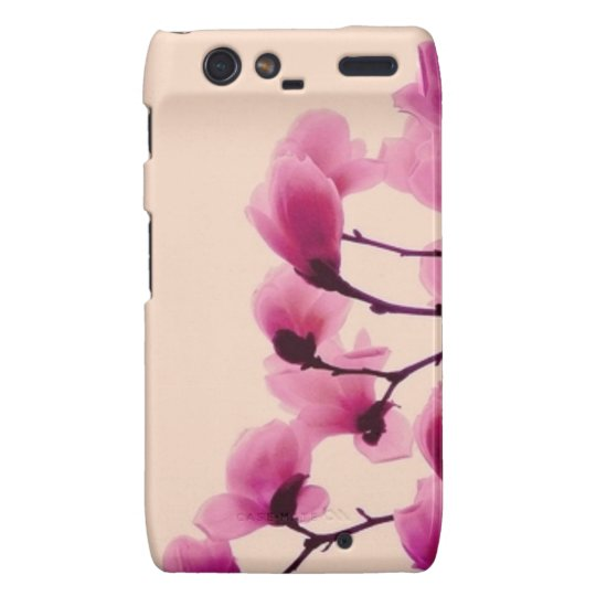 Purple Blossoms Droid RAZR Cases