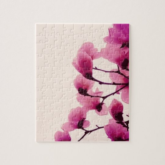 Purple Blossoms Jigsaw Puzzle