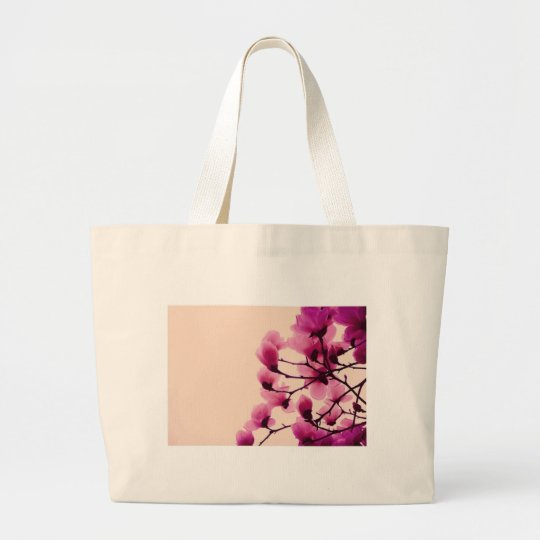 Purple Blossoms Large Tote Bag