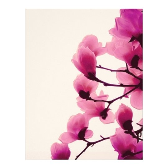 Purple Blossoms Letterhead