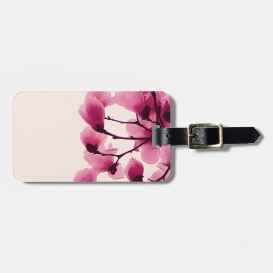 Purple Blossoms Luggage Tag