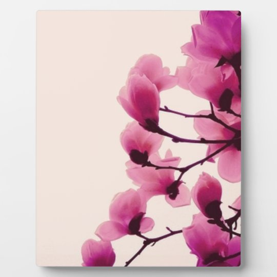 Purple Blossoms Plaque