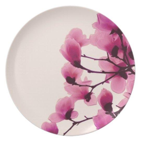Purple Blossoms Plate