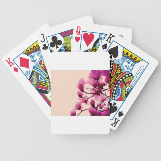 Purple Blossoms Poker Deck