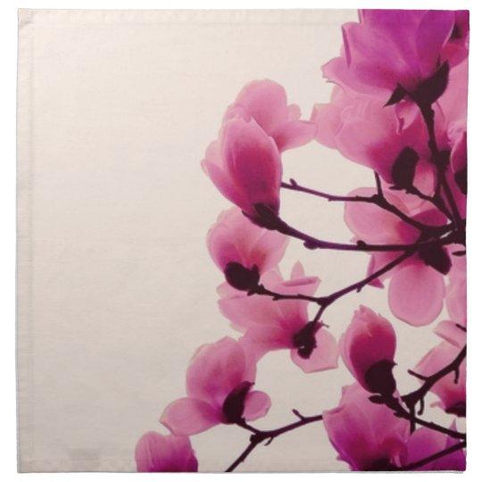 Purple Blossoms Printed Napkins