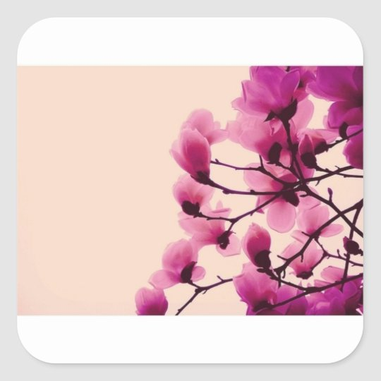 Purple Blossoms Square Sticker